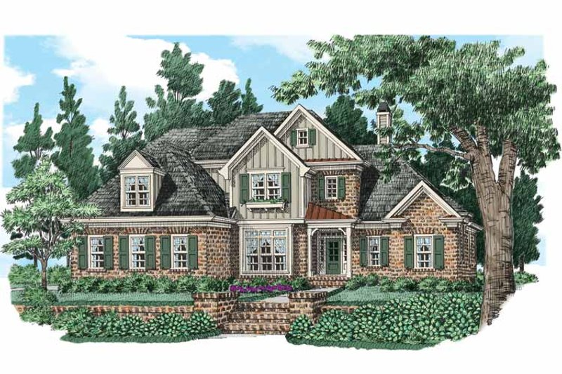 European Exterior - Front Elevation Plan #927-531 - Houseplans.com