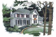 Dream House Plan - Colonial Exterior - Front Elevation Plan #56-671
