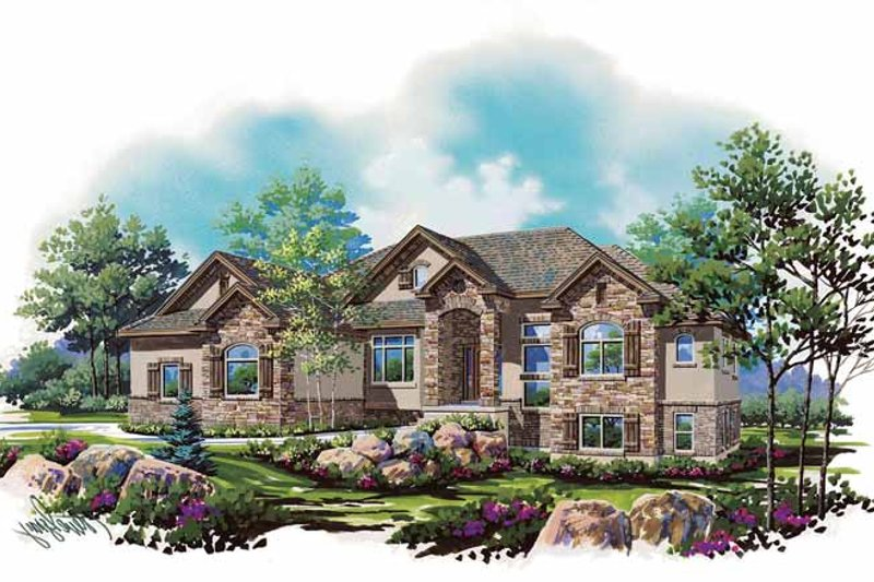 Architectural House Design - Country Exterior - Front Elevation Plan #945-135