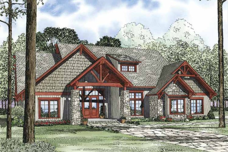 Home Plan - Country Exterior - Front Elevation Plan #17-3313