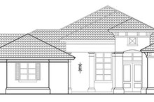 House Plan Design - Mediterranean Exterior - Front Elevation Plan #930-457