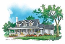 Country Exterior - Front Elevation Plan #929-454