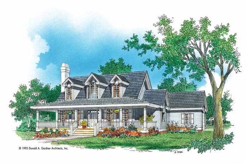 Dream House Plan - Country Exterior - Front Elevation Plan #929-454