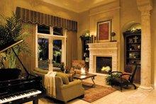Mediterranean Interior - Family Room Plan #930-315