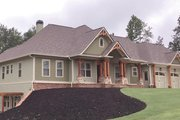 Craftsman Style House Plan - 3 Beds 3.5 Baths 2718 Sq/Ft Plan #437-74 Exterior - Front Elevation