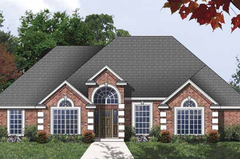 Traditional Exterior - Front Elevation Plan #40-505