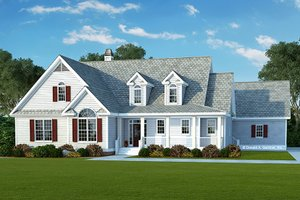 Country Exterior - Front Elevation Plan #929-976