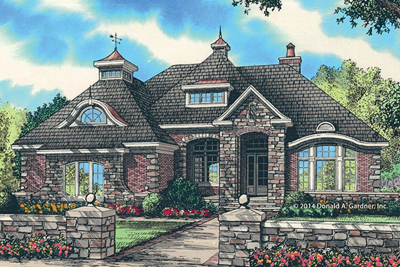 Home Plan - European Exterior - Front Elevation Plan #929-987