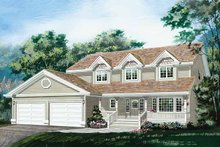 House Plan Design - Country Exterior - Front Elevation Plan #47-1018