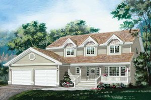 Architectural House Design - Country Exterior - Front Elevation Plan #47-1018