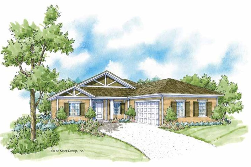 Country Style House Plan - 3 Beds 2 Baths 1446 Sq/Ft Plan #930-363 Exterior - Front Elevation