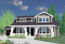 Prairie Exterior - Front Elevation Plan #509-240