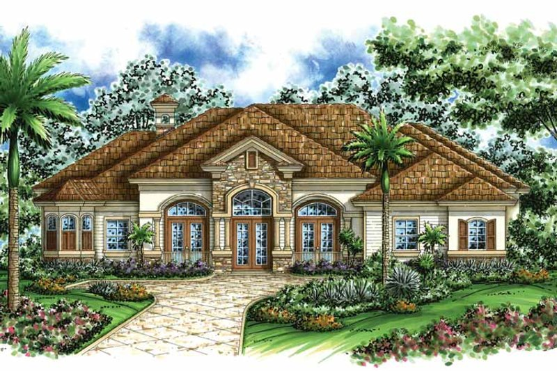 Mediterranean Exterior - Front Elevation Plan #1017-30 - Houseplans.com