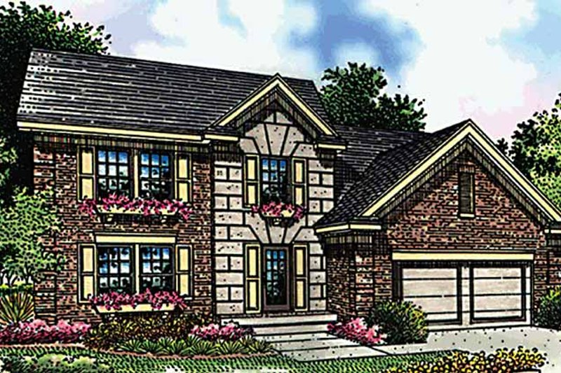 Dream House Plan - Traditional Exterior - Front Elevation Plan #51-807
