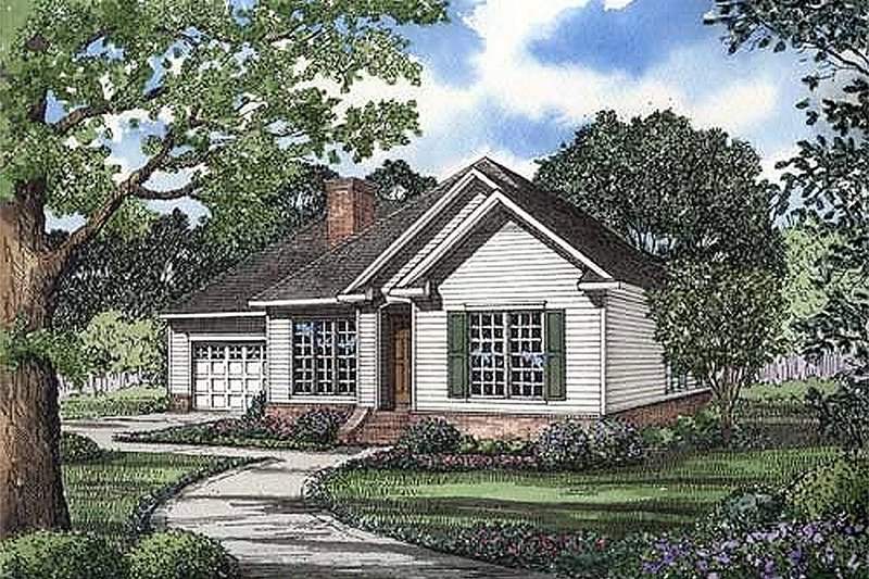 Architectural House Design - Traditional Exterior - Front Elevation Plan #17-1002