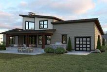 House Plan Design - Contemporary Exterior - Rear Elevation Plan #1070-44