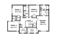 Traditional Floor Plan - Upper Floor Plan Plan #1010-136