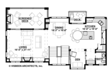 Contemporary Floor Plan - Upper Floor Plan Plan #928-270