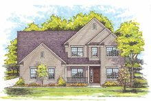 Home Plan - Traditional Exterior - Front Elevation Plan #435-14