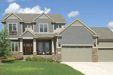 Architectural House Design - Craftsman Exterior - Front Elevation Plan #320-1001