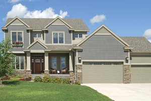 Architectural House Design - Craftsman Exterior - Front Elevation Plan #320-1001