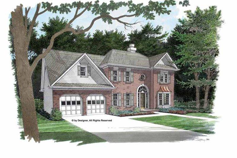 Colonial Exterior - Front Elevation Plan #56-672 - Houseplans.com