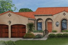 Mediterranean Exterior - Front Elevation Plan #1058-5