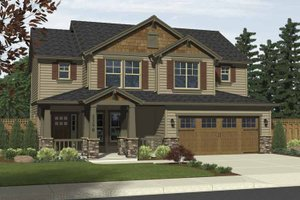 Dream House Plan - Craftsman Exterior - Front Elevation Plan #943-5