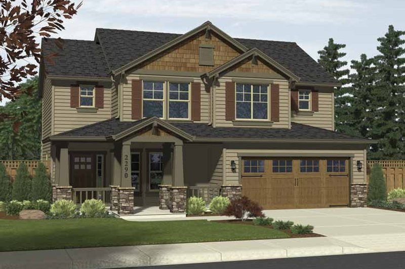 Architectural House Design - Craftsman Exterior - Front Elevation Plan #943-5