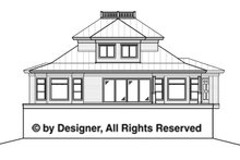 Southern Exterior - Rear Elevation Plan #1017-57