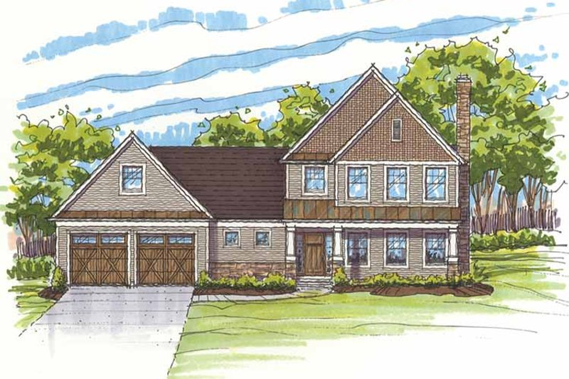 Traditional Exterior - Front Elevation Plan #435-17