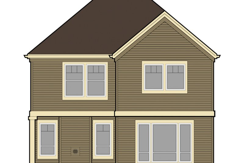 Craftsman Exterior - Rear Elevation Plan #48-907 - Houseplans.com