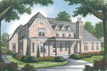 House Plan Design - European Exterior - Rear Elevation Plan #453-583