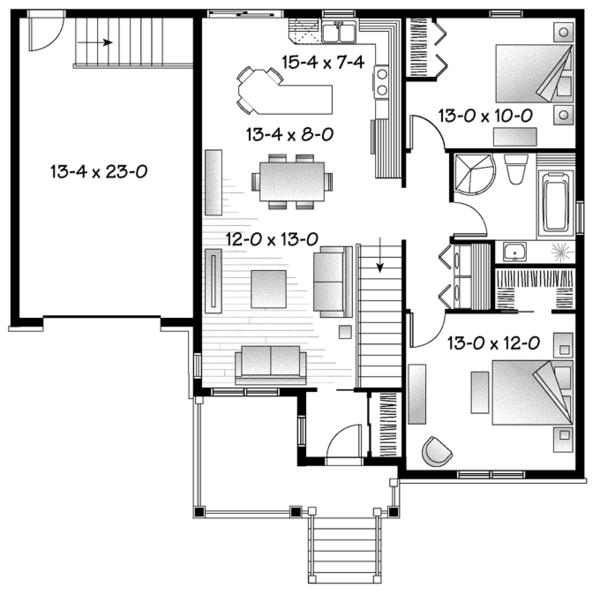 Country Floor Plan - Main Floor Plan Plan #23-2566