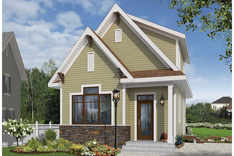 Craftsman Exterior - Front Elevation Plan #23-2604