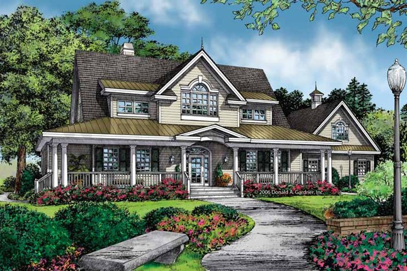 Country Exterior - Front Elevation Plan #929-860