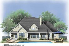 Ranch Exterior - Rear Elevation Plan #929-726
