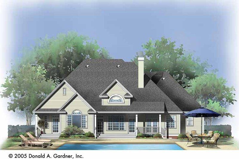Ranch Exterior - Rear Elevation Plan #929-726 - Houseplans.com