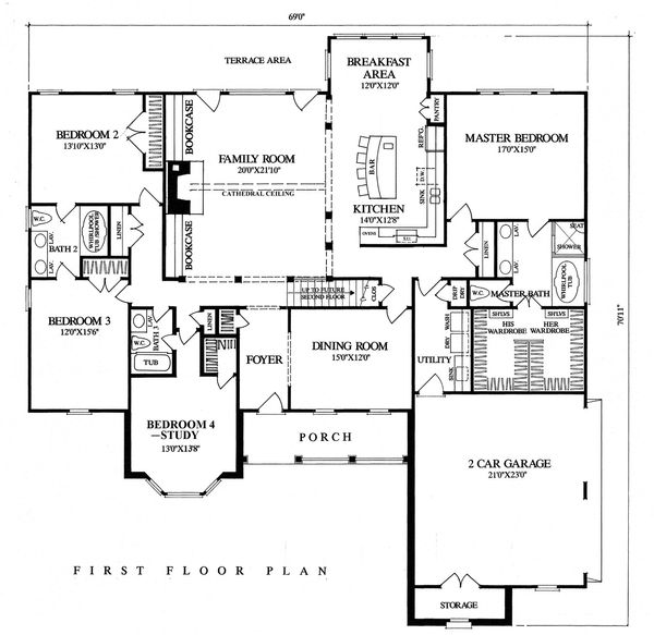 Country Floor Plan - Main Floor Plan #137-274