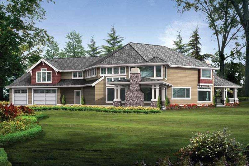 Craftsman Exterior - Rear Elevation Plan #132-348 - Houseplans.com