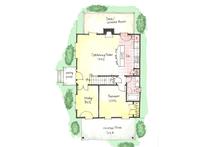 Colonial Floor Plan - Main Floor Plan Plan #1053-37