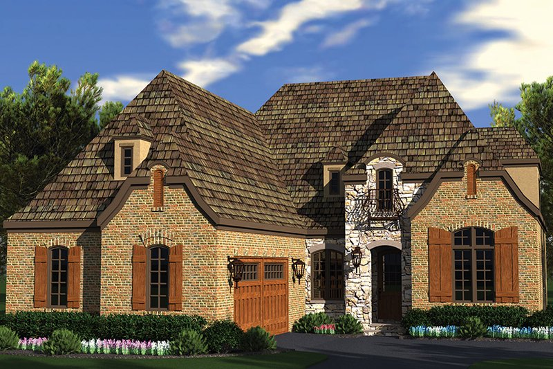 European Exterior - Front Elevation Plan #453-636