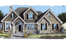 Traditional Exterior - Front Elevation Plan #46-327