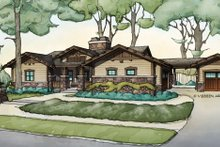Craftsman Exterior - Front Elevation Plan #928-266