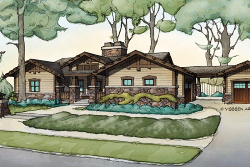 Craftsman Exterior - Front Elevation Plan #928-266 - Houseplans.com