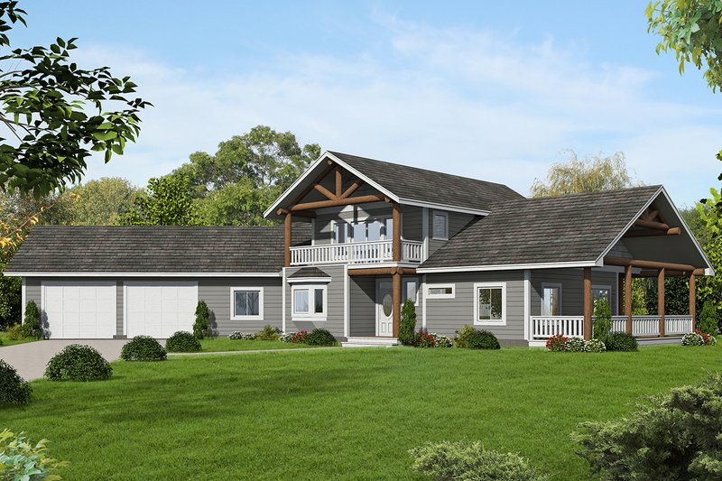 Home Plan - Craftsman Exterior - Front Elevation Plan #117-880