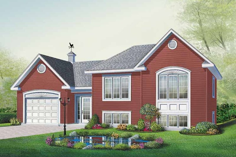 Traditional Exterior - Front Elevation Plan #23-2402 - Houseplans.com