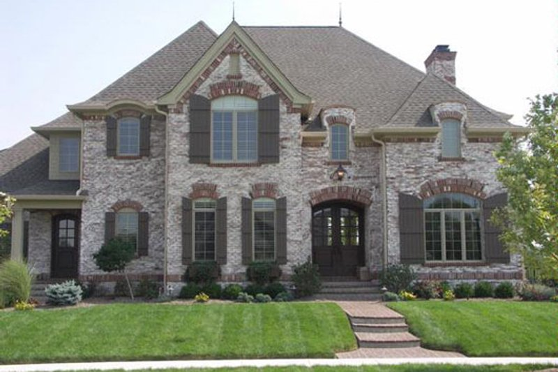 European Style House Plan - 5 Beds 5 Baths 5665 Sq/Ft Plan #458-19 Exterior - Front Elevation