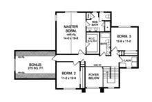 Traditional Floor Plan - Upper Floor Plan Plan #1010-133