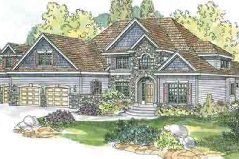 Country Exterior - Front Elevation Plan #124-555 - Houseplans.com